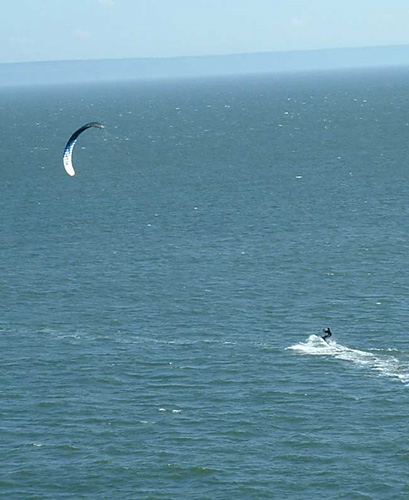 Eric Kite surfing